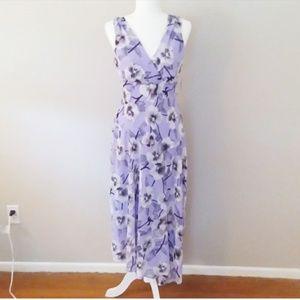 Dress Barn Lavender Chiffon Floral Dress New W/Tag